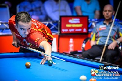 Victory table at World Pool Masters 2017