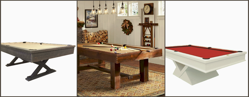Modern Pool Tables, Certified Slate and Lifetime Warranty.